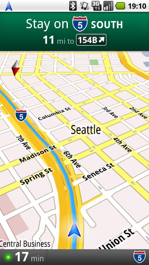 all things spatial google enters mobile gps navigation market. Black Bedroom Furniture Sets. Home Design Ideas