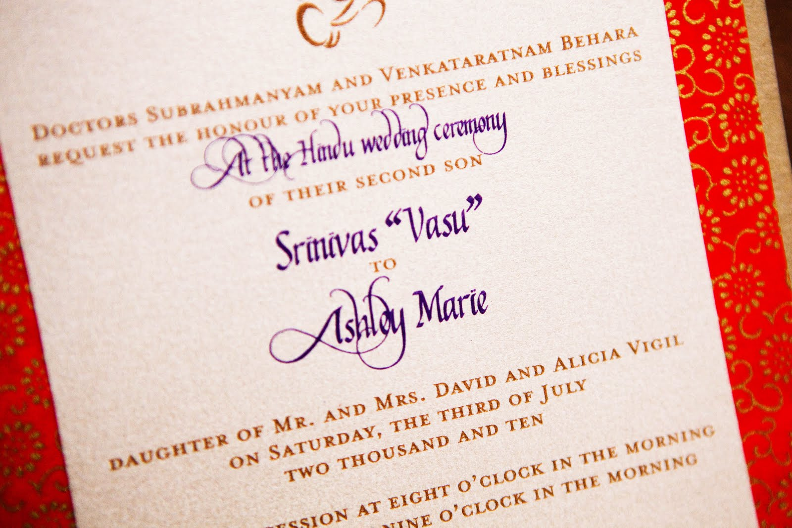 Hindu Wedding Invitation Card: The Inviting Pear Photoblog: A Spectacular Hindu Wedding