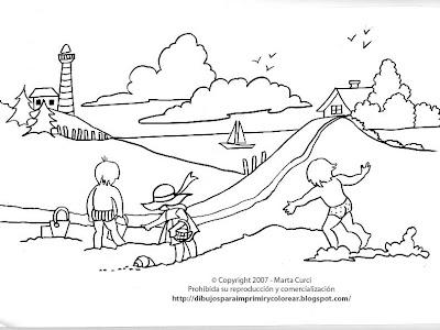 Dibujos Para Imprimir Y Colorear De Las Vacaciones Dibujo