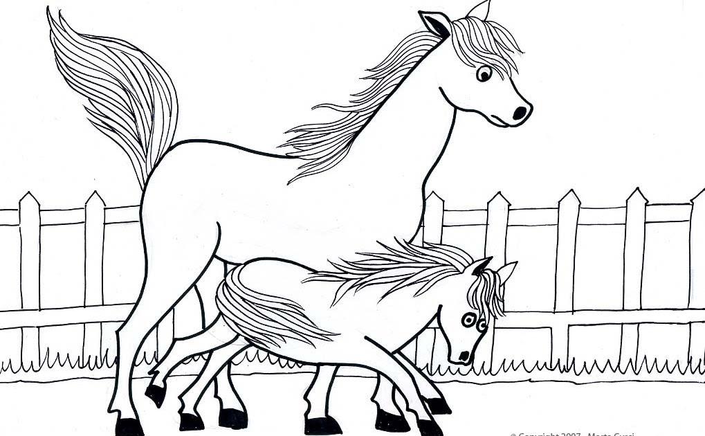 ENTRETENIMIENTO INFANTIL PARA NIÑOS: Dibujo de caballos