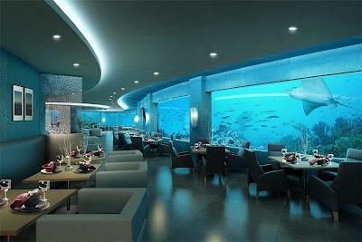 Ps5studio Architectural Illustration Underwater Restaurant