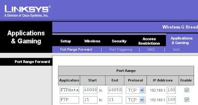 Setting up an FTP Server Behind NAT (Network Address Translation