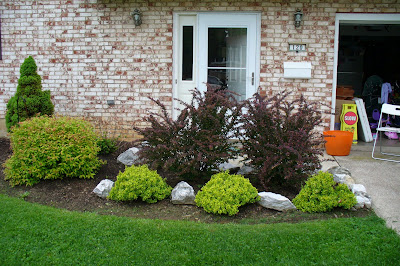 Front yard landscaping we did it ourselves family for Easy care shrubs front house