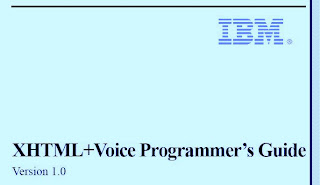 XHTML + Voice Programmer's Guide