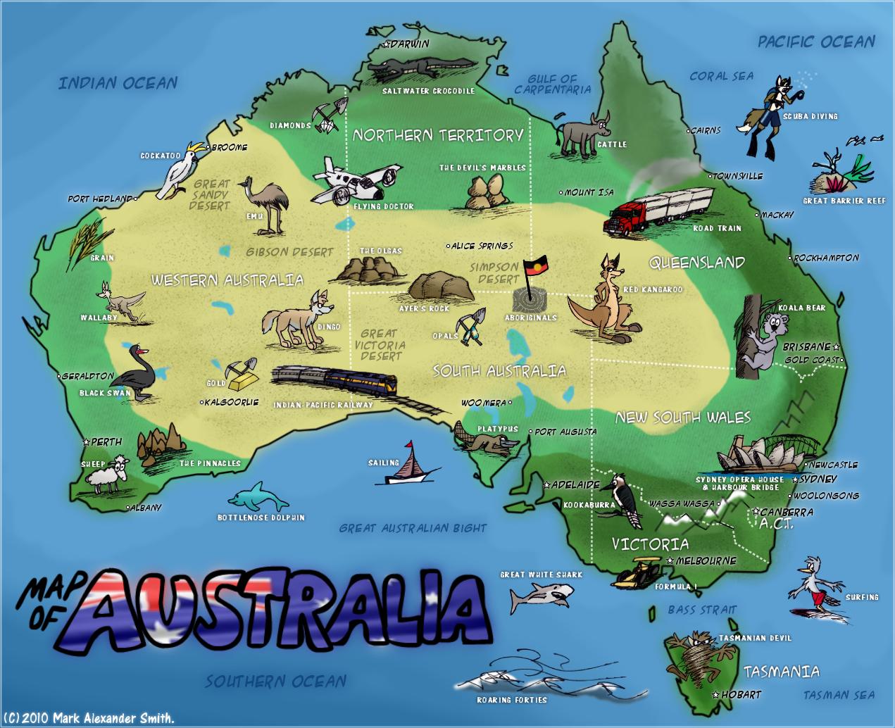 The Fox That Rocks Map Of Australia