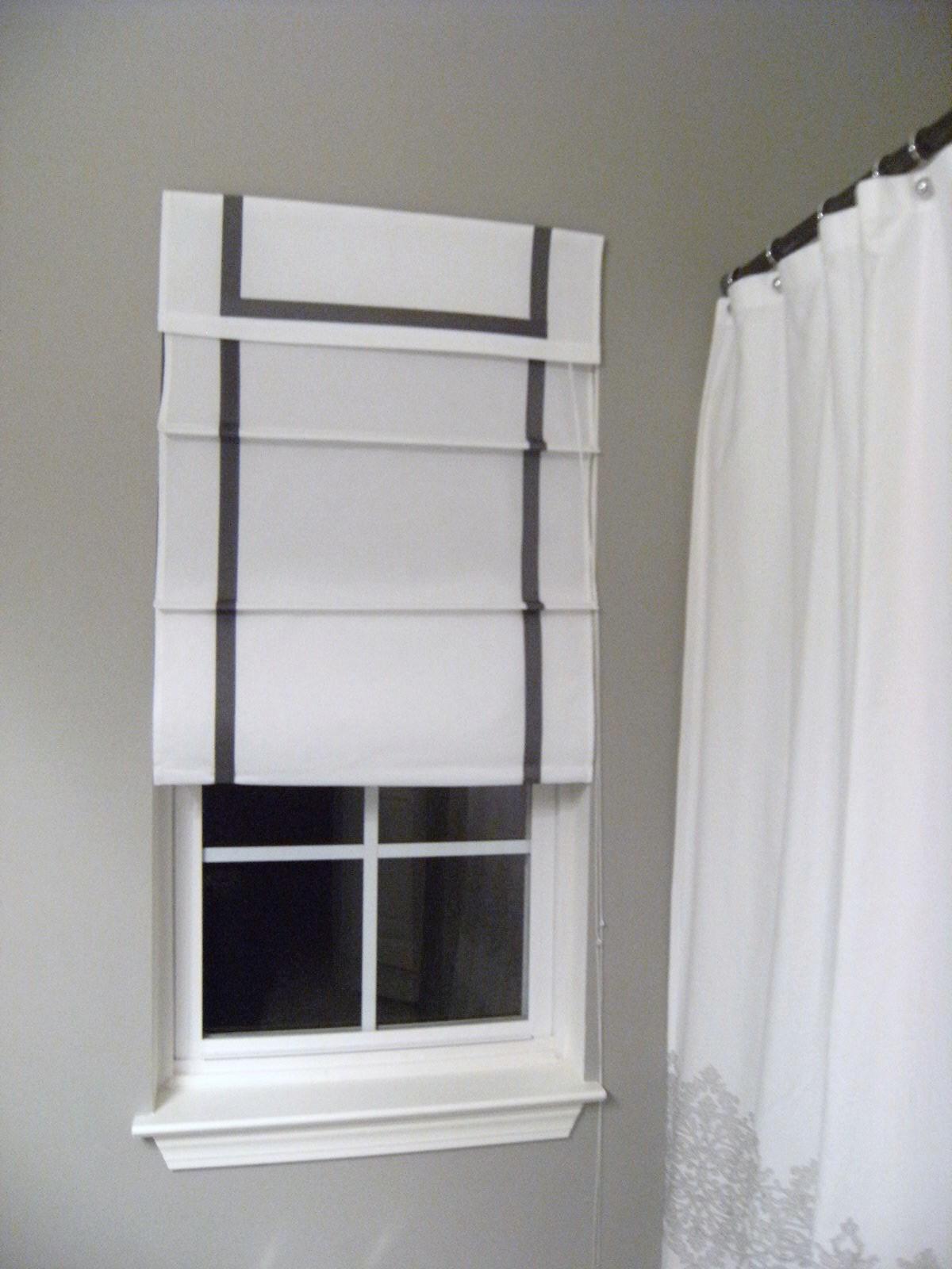 southgate residential diy ribbon edged roman shades. Black Bedroom Furniture Sets. Home Design Ideas