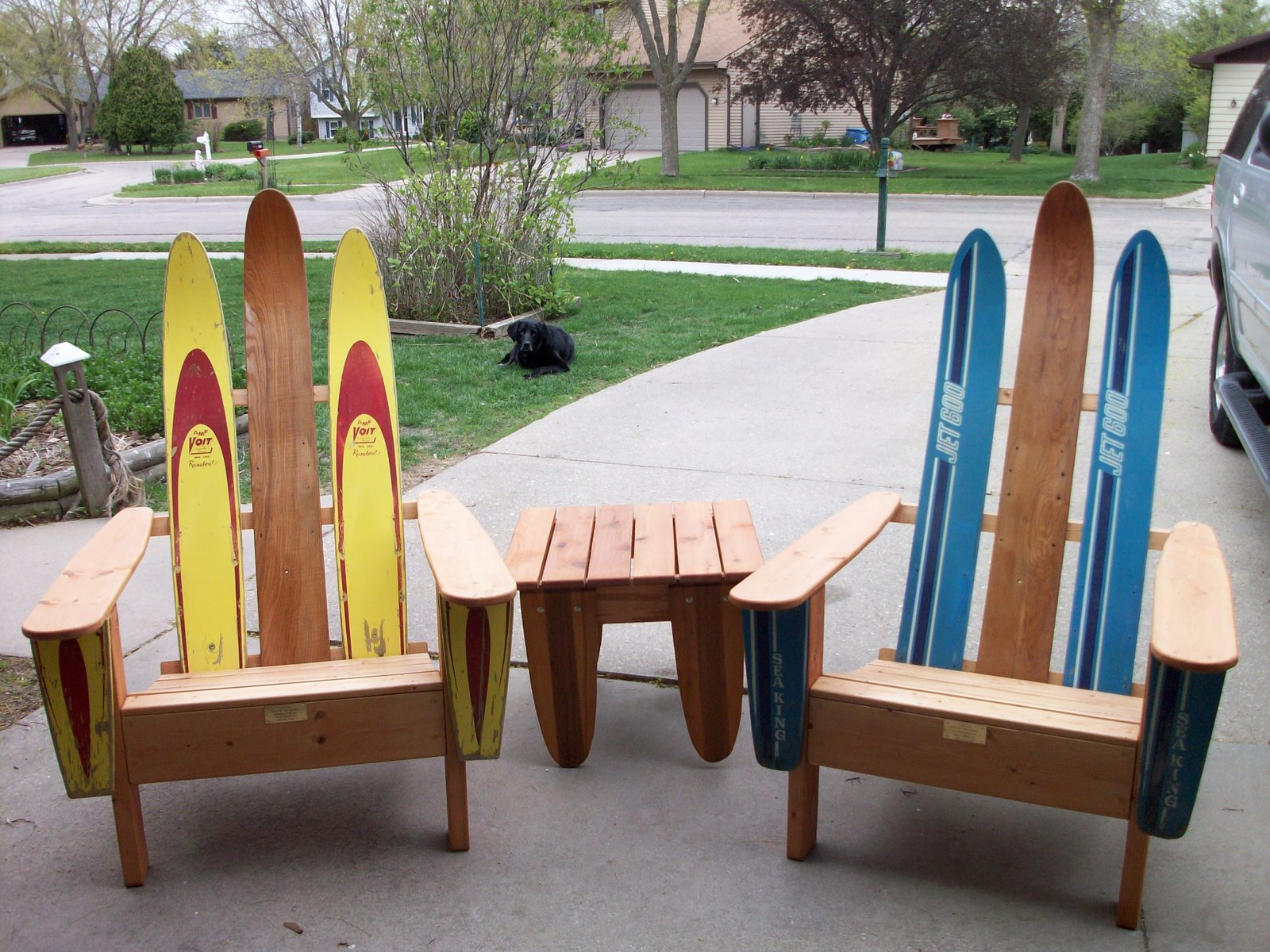 .: Vintage Water Ski Chairs and Tables!!!!