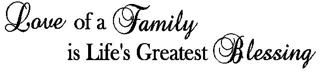 Download WordsWherever Vinyl Lettering: Love of a Family is Life's ...
