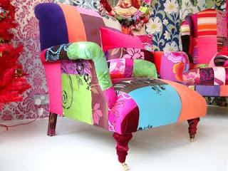 colorido sillón estilo cultura DIY