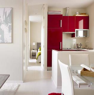 Blanco y rojo hacen buen contraste y armonía.