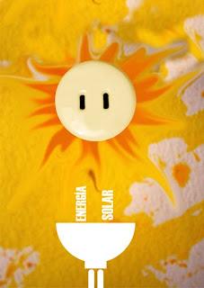 cartel ecológico, energía solar