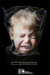 no fumar, fotografia de publicidad ante fumar