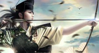 una guerrera con arco