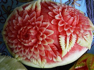 Arte con sandías - Art with watermelons