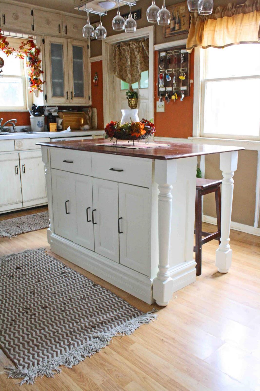 Superwoman kitchen island revamp - Cheap kitchen island ideas ...