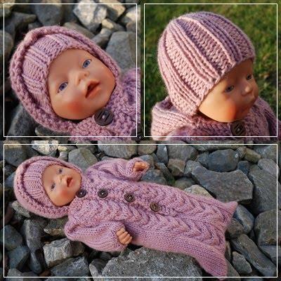 Gratis Strikkeoppskrifter Dukkeklær Baby Born
