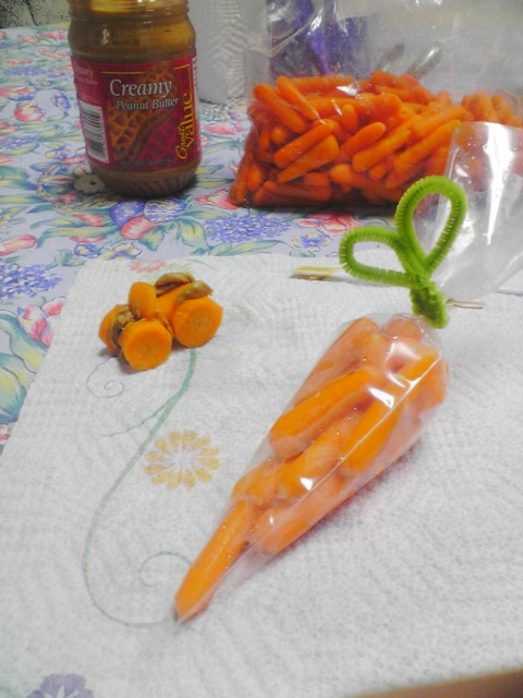 Edible Art with Carrots for Classroom Snack