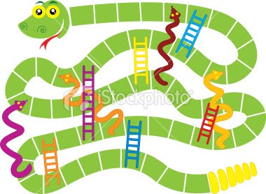 Dollar daze and thrifty finds september 2010 for Printable snakes and ladders template