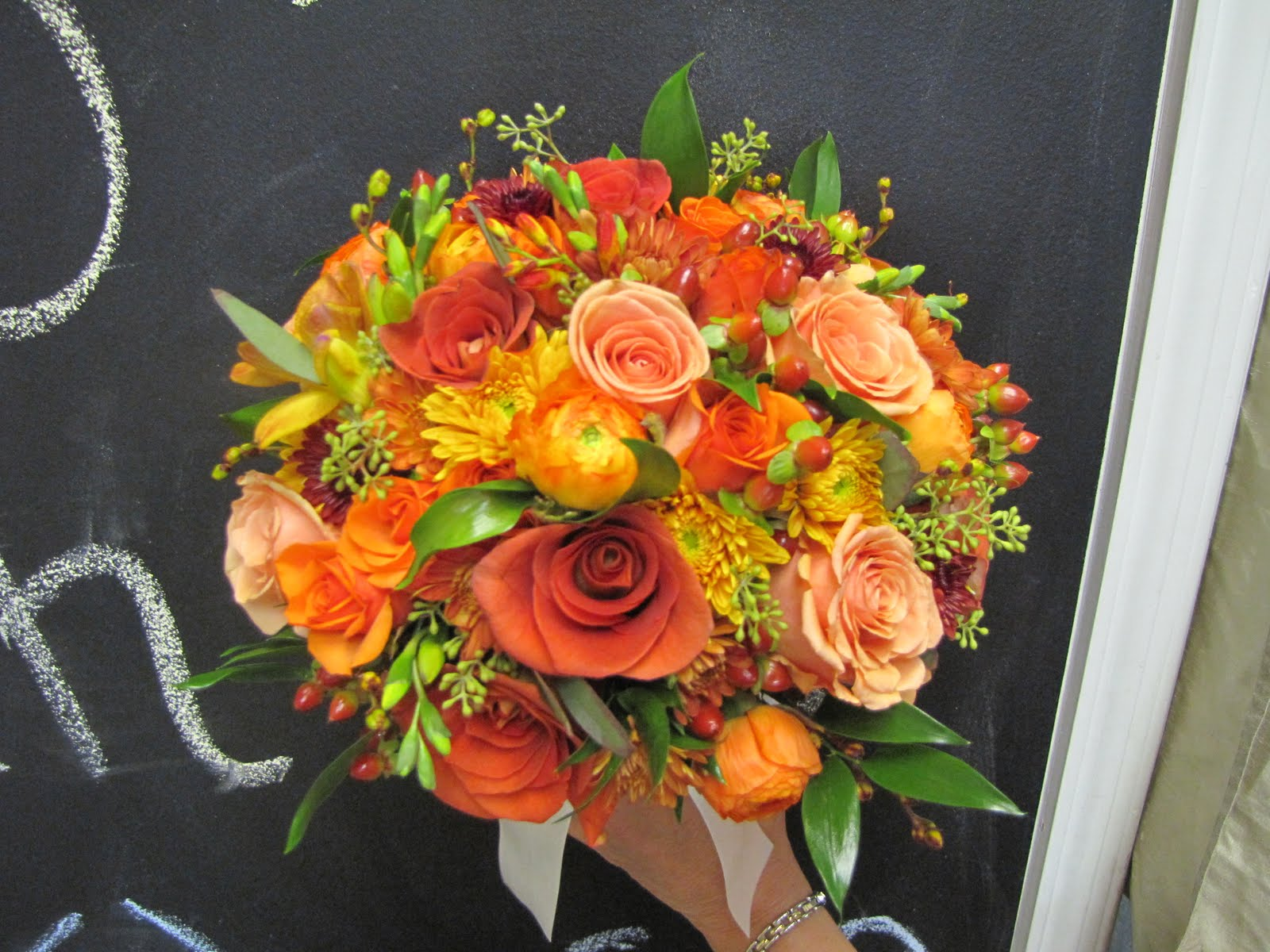 The Gish Family: Fall Wedding Flowers