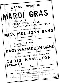 Mulligan Melly, Bags Watmough, Chris Hamilton Jazzmen