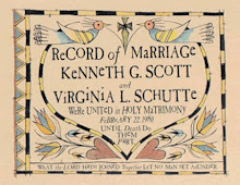 FRAKTUR RECORD OF MARRIAGE $39