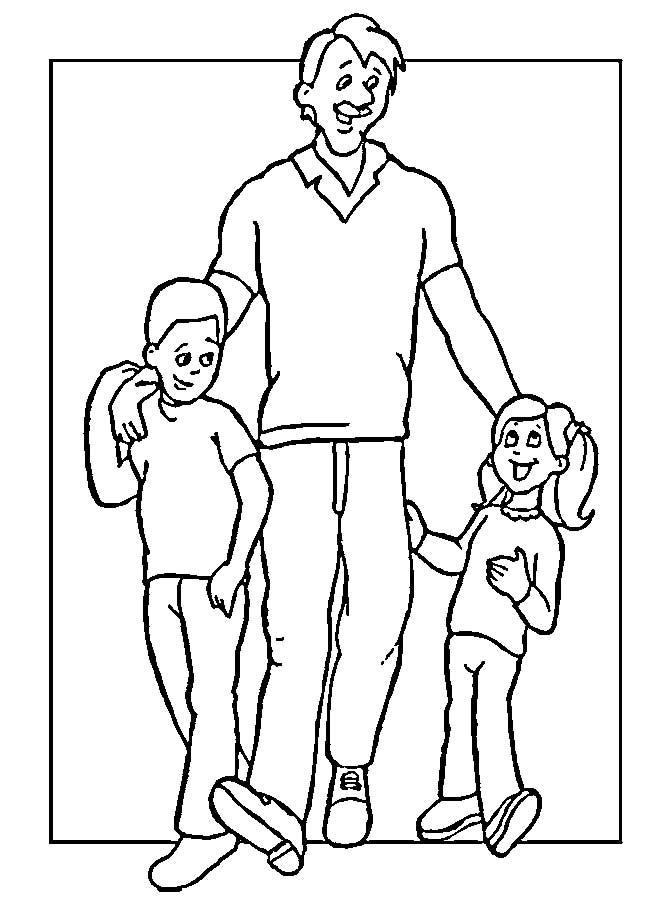 Printable coloring pages for Dad - Cute! | Sketches
