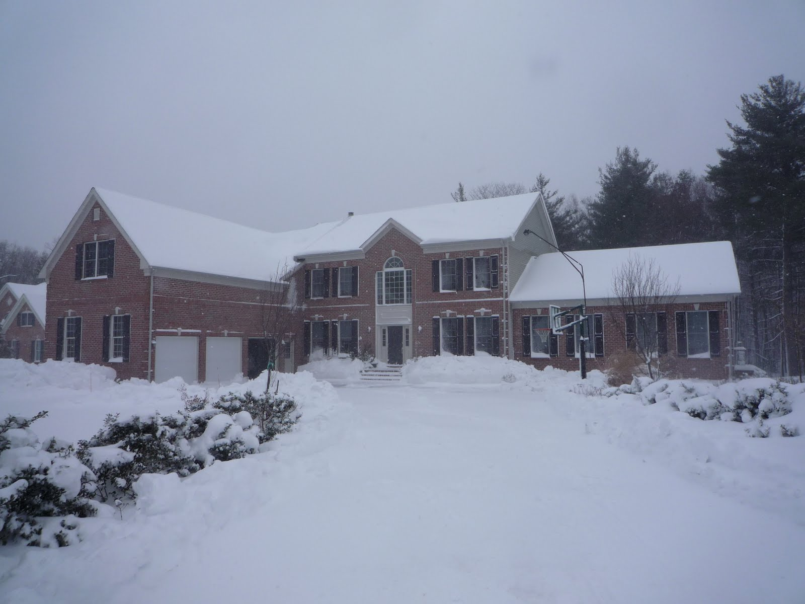 The New House In Snow
