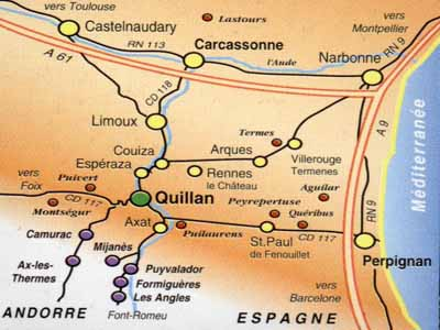 Street Map Of Quillan France.Discovering The South Of France Discovering More About Quillan