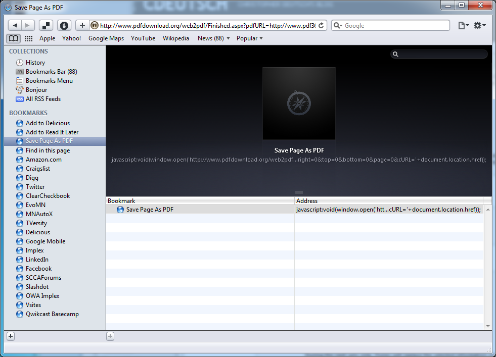 Page As Pdf Javascript