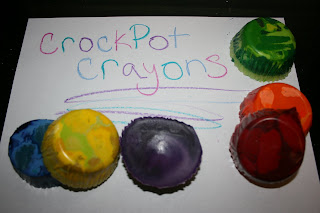 Recycle your old and broken crayons into new ones by melting them down in the crockpot!
