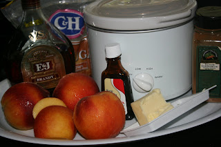 How to make a Fresh Fruit Compote (this is with peaches) in the CrockPot Slow Cooker