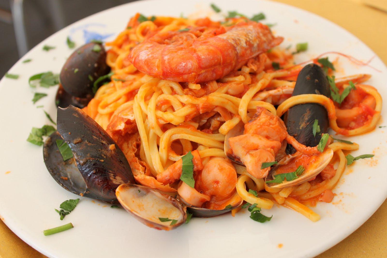 frutti di mare in sahneauce zu spaghetti — rezepte suchen