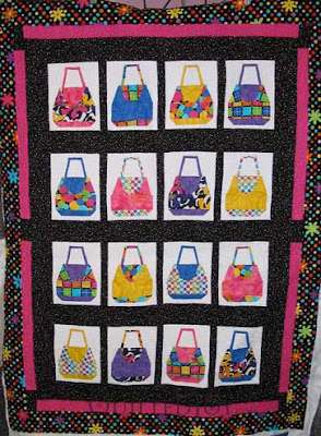 Sarah's Purses Quilt, quilted by Angela Huffman