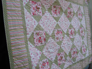 Perfectly Pink baby quilt, quilted by Angela Huffman