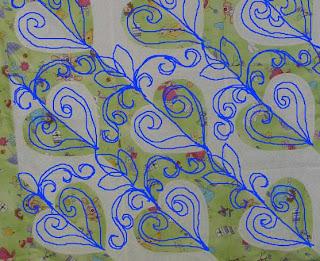 Karen's Madeira Heart quilt, quilted by Angela Huffman