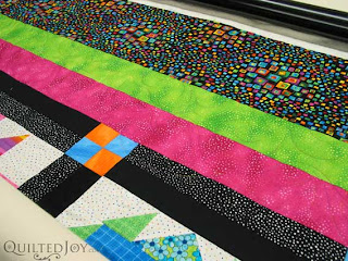 Bright Sampler Quilt, quilted by Angela Huffman
