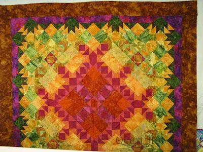 Beautiful Desert Batik Quilt in Progress