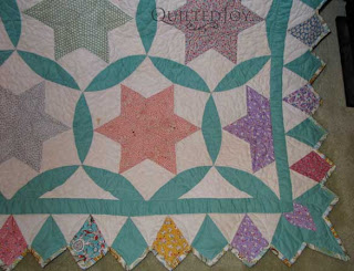 This quilt was decades in the making, read the story at QuiltedJoy.com
