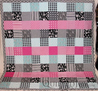 Parisian Party, quilted by Angela Huffman - QuiltedJoy.com