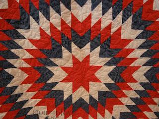 Patriotic Lone Star Quilt - QuiltedJoy.com