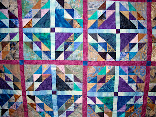 Beans and Corn quilt with Cascade Pantograph - QuiltedJoy.com