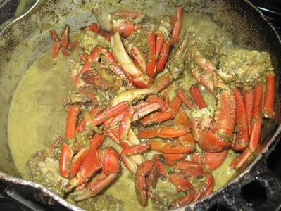 Curry Crab and Cassava Dumpling