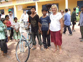 Lisa with Takeo Bicyle Recipients