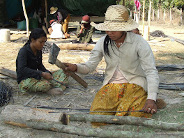 Village Women Working on Rebar