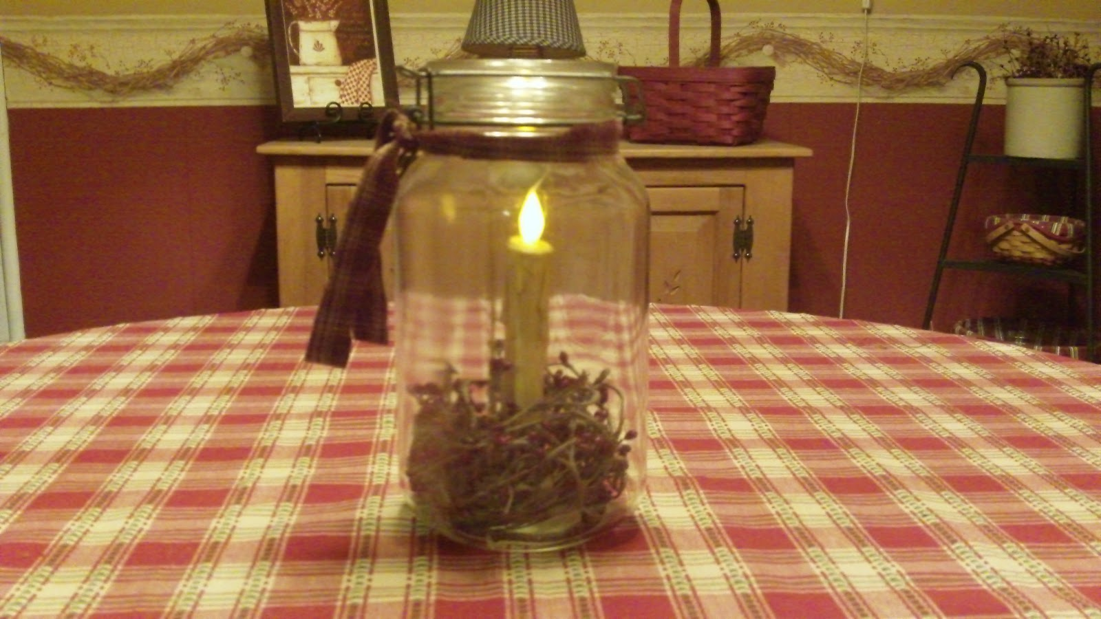 Country Home Decorating Ideas  Country Canning Jar Idea