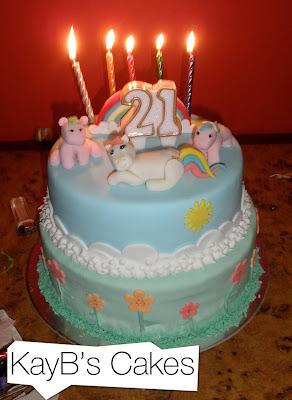 Pony Birthday Cake Designs