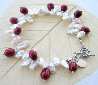 Keishi and Red RIce Pearl Bracelet from JaC Jewelry