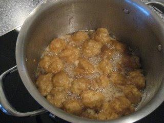 Cinnamon Dumplings with Apple Cider Syrup