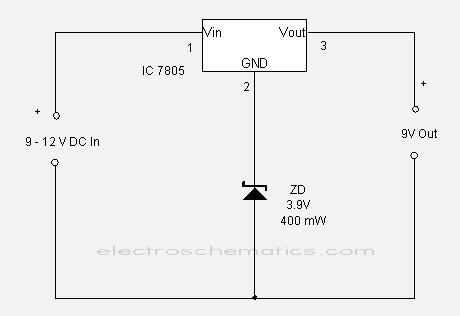CIRCUIT: 7805 Regulator IC Circuits