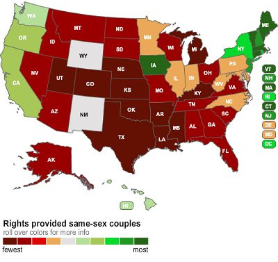 4 states gay marriage is recognized